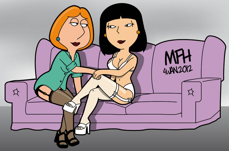 Lois and Tricia on the couch by mej073