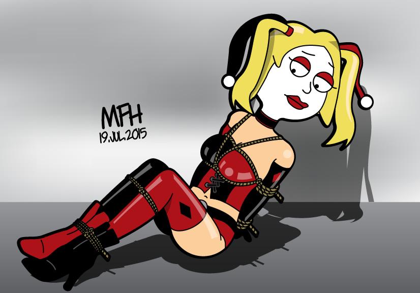Francine Smith as Harley Quinn - bound by mej073