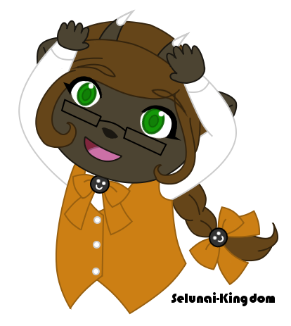 Am I cute? Putting on falsies? by Selunai-Kingdom