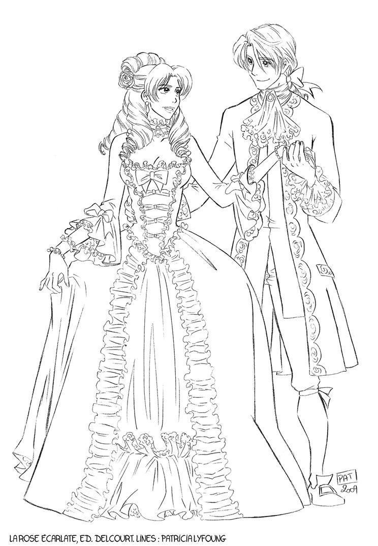 Rose lines by patricialyfoung on deviantart - Rose coloriage ...