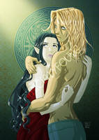 Lliane and Azrayen by patriciaLyfoung
