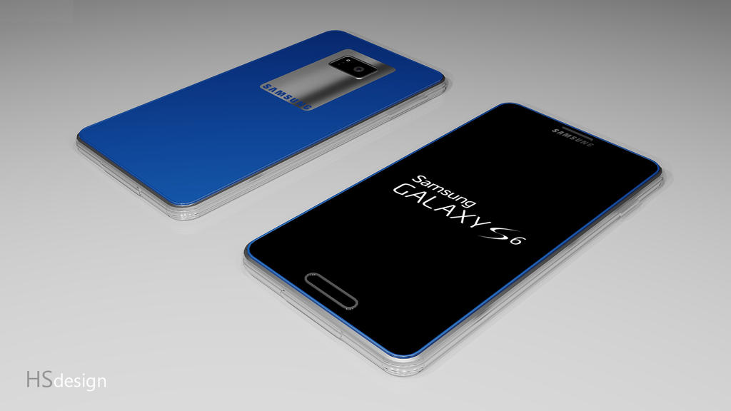 Samsung Galaxy S6 concept (Blue) by HS-design on DeviantArt