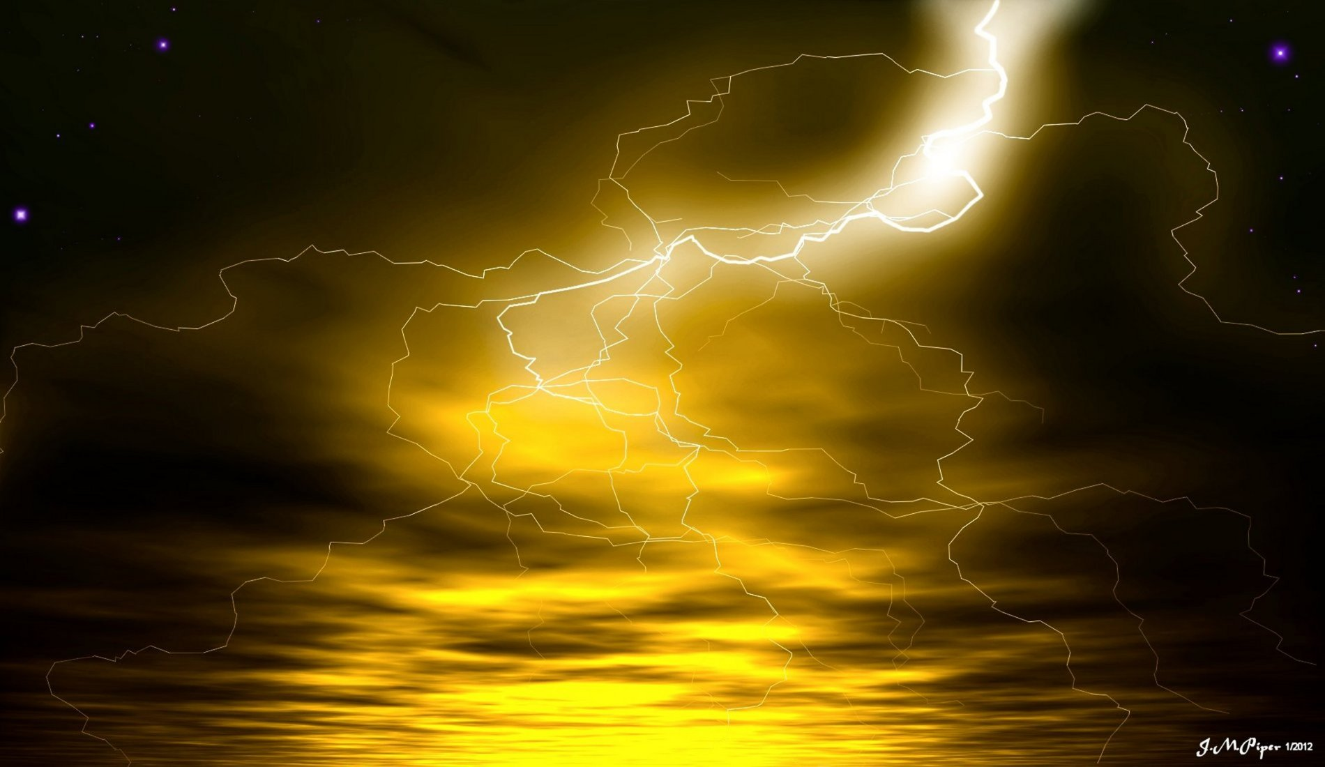 yellow lightning wallpaper - photo #3