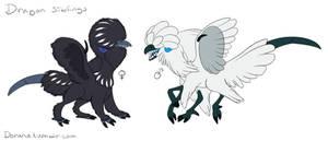 Chicken dragon siblings