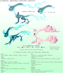 Possible adoptables - elemental creatures