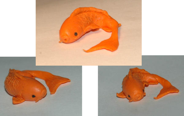 Polymer clay koi by lacevampire on deviantart for Clay koi fish