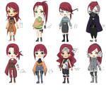 NARUTO redhead adoptables 6/8 by makibo031226