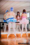 Evangelion - Rei y Asuka - ballet - Hikari