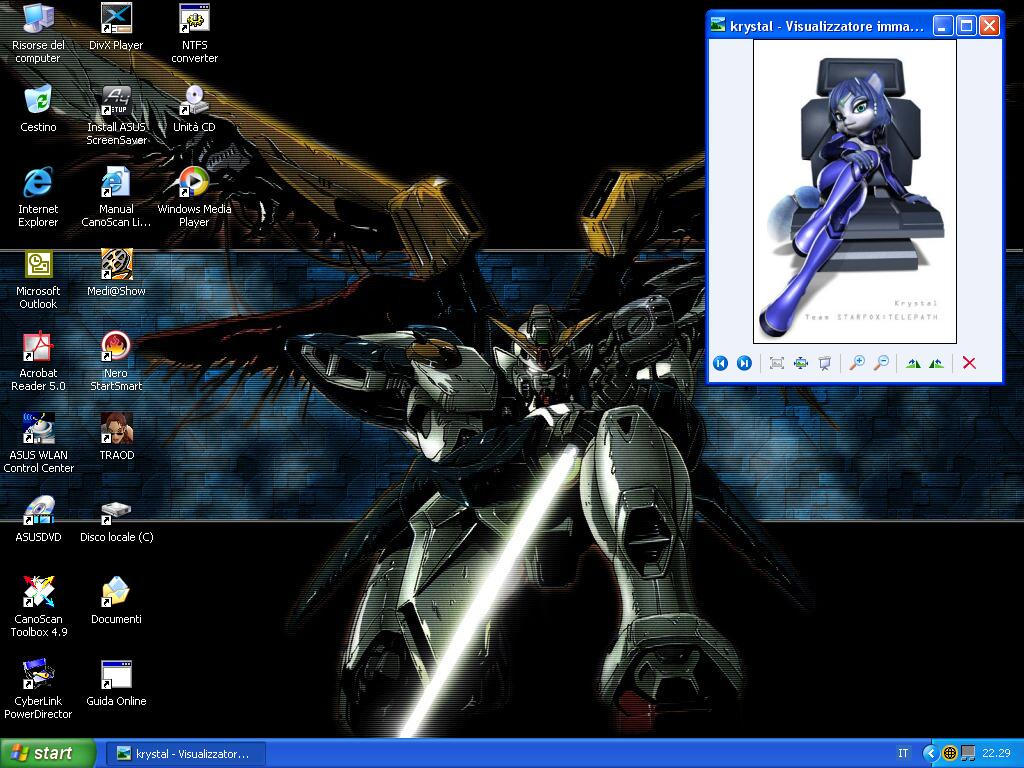 My desktop... with an addition by Otakuwolf