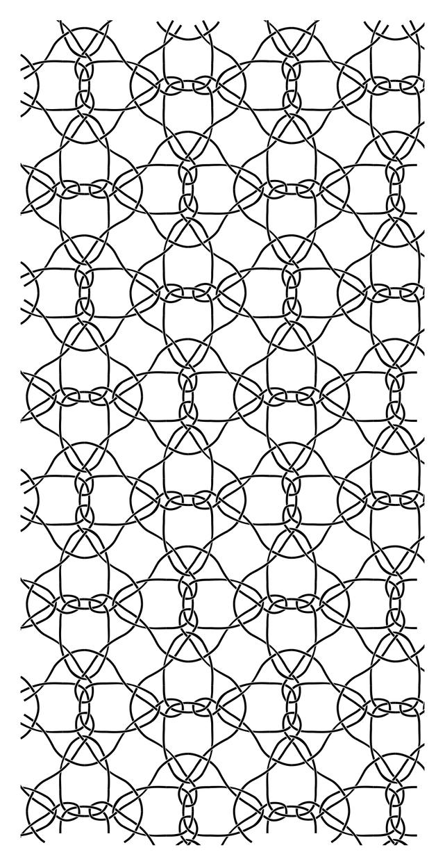 Cairo-prismatic pentagonal tiling, sample 1. by outolumo