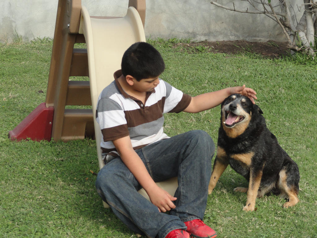 Nephew and Dogs 8 by Moongaze14