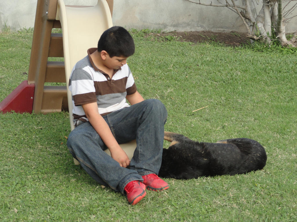 Nephew and Dogs 9 by Moongaze14