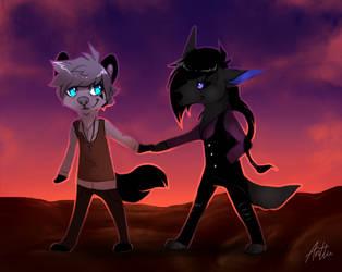 Fluffy boyfriends by blacksheepcomic