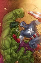 Hulk Vs Captain America Colors by assisleite