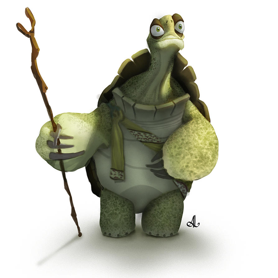 Master Oogway Digital Painting Study by assisleite on ...