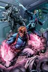 Spartan and Warblade - Comic Color Sample