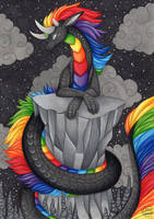 Black Scaled Rainbow by GalaxyWings-Art