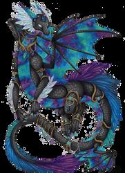 Galaxy Dragon by GalaxyWings-Art