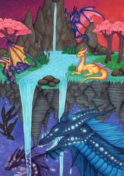 Floating Island by GalaxyWings-Art