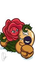 Briar Rose x Black Eyed Pea by ElectricPea0360