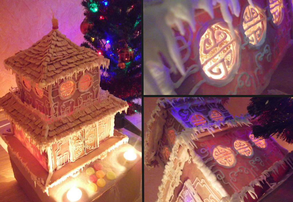 Gingerbread chinese temple by pushis33