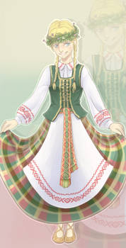 Traditional Lithuanian girl