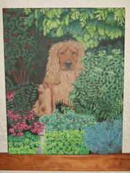 Basil the dog Painting