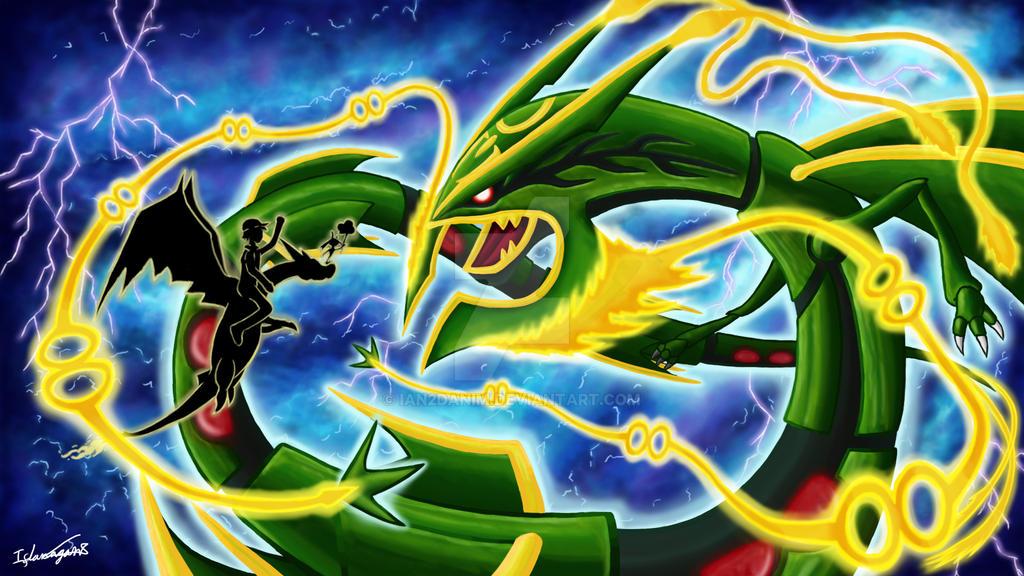mega rayquaza duel by ian2danim on deviantart