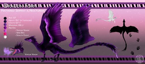 Comish: Gin'tana Dragon Form [Zellevia]