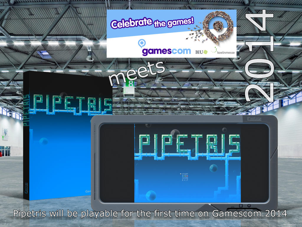 Pipetris-meets-gamescom by Selberzeichner