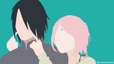 Sasuke and Sakura by andikamelodiest