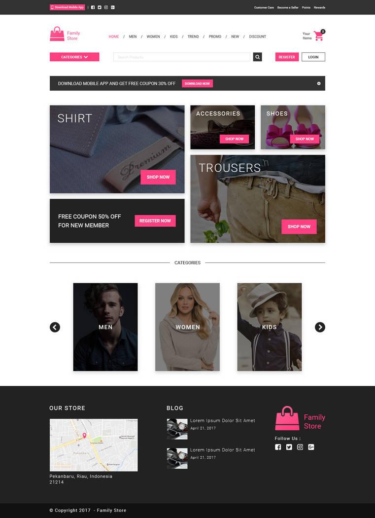 5ca71246464 Online Clothing Store Web Design by andikamelodiest on DeviantArt