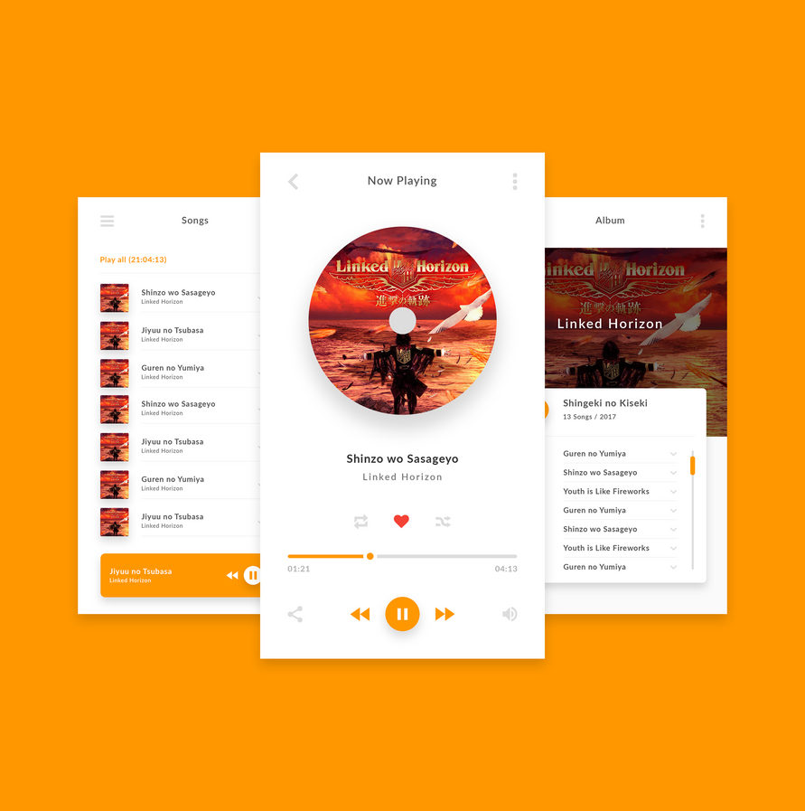 Mobile Music Player by andikamelodiest