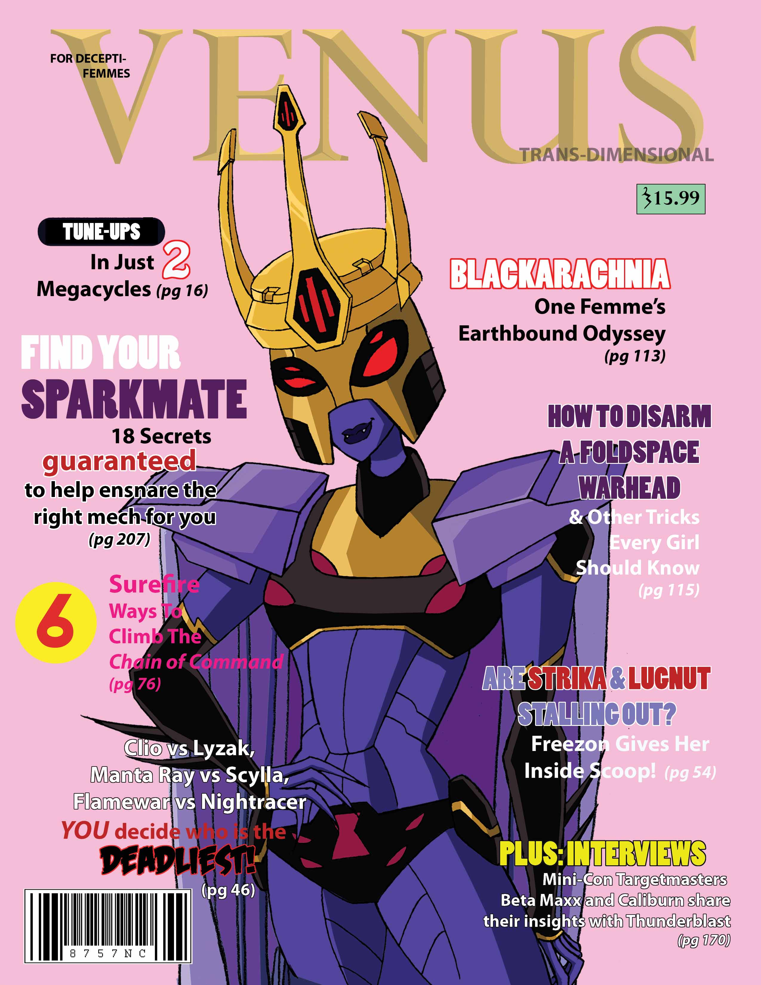 Blackarachnia___Venus_Mag_by_BillForster