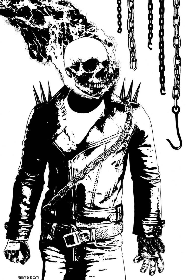 Ghost Rider INKS by BillForster