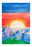 Cityscape watercolor practice