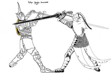 The Penetrator vs The Abysswalker by Felipe-Gewehr
