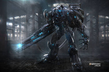 Scifi Robot Warrior by Jfields217