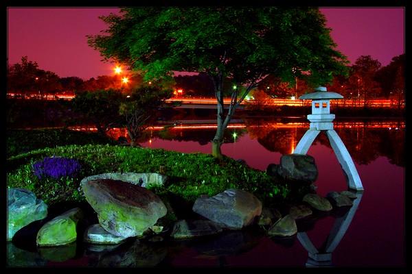 Japanese Garden Wallpaper Night Japanese Garden at Night by