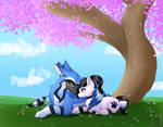 Cherry Blossom Snuggles {Comm}