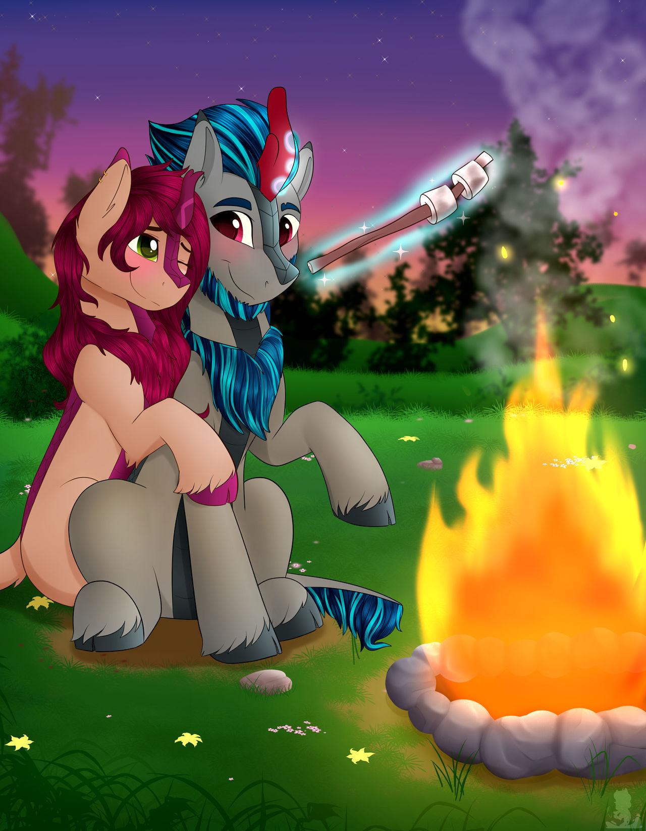 Campfire Cuddles {Comm}