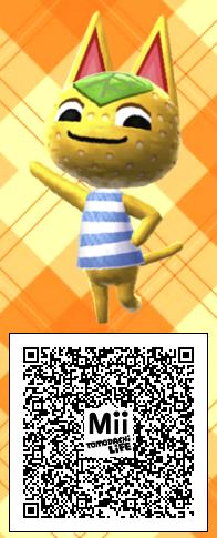 Animal Crossing Cat Mii Qr Code