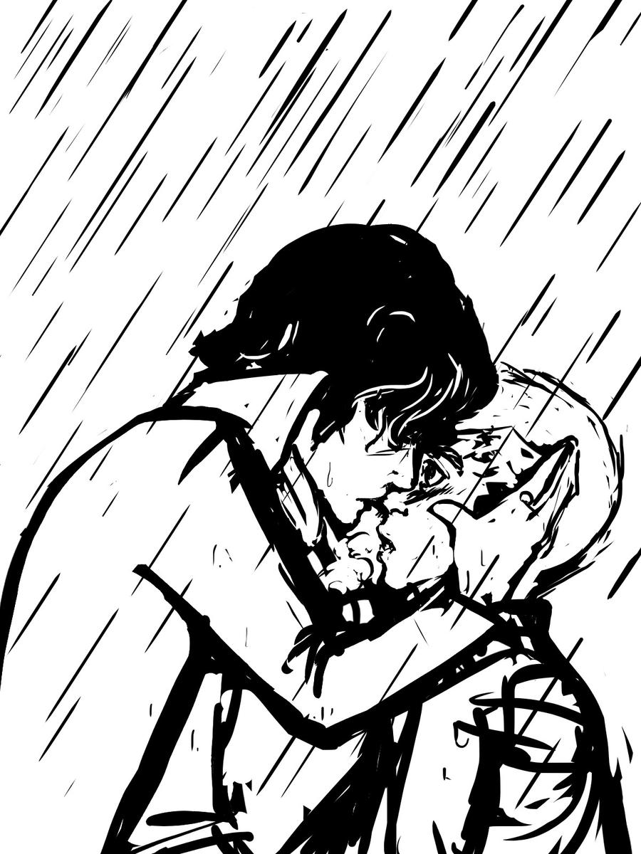 Kissing in the Rain by kamlii on DeviantArt