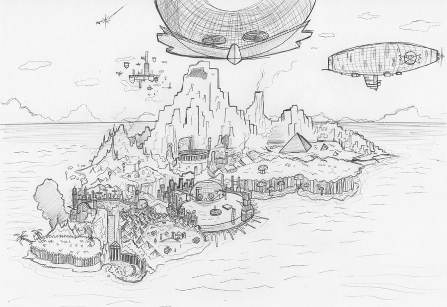 Sonic  Angel Island Map