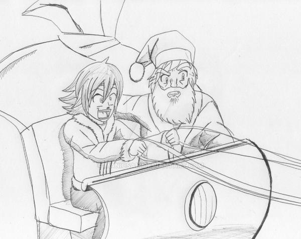 Quick Christmas Sketch by ManicSam