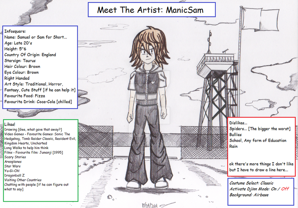 Meet The Artist: ManicSam by ManicSam on DeviantArt