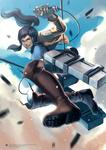Korra's Attack on Titan by N-Maulina