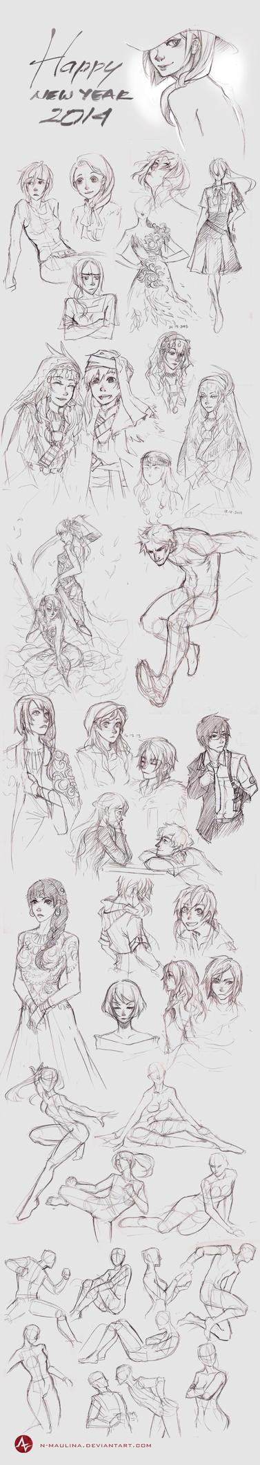 Sketchbook - Dec 2013 by N-Maulina