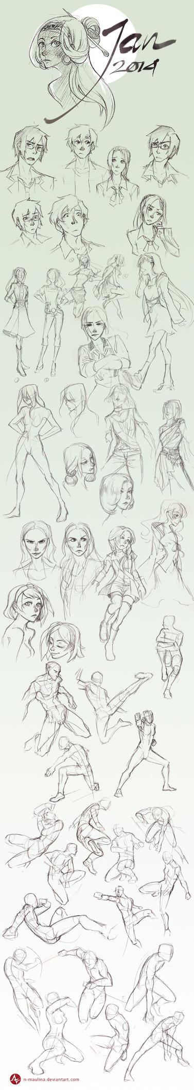Sketchbook - Jan 2014 by N-Maulina