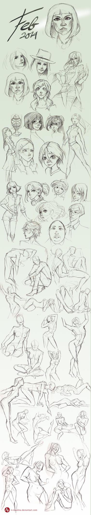Sketchbook  Feb 2014 by N-Maulina
